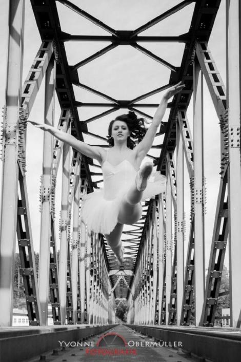 Balett, Balettfotoshooting, Balett zugbrücke Passau